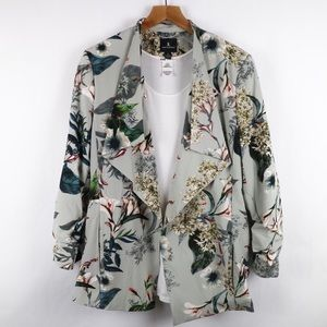 Jules & Leopold floral blazer with cinched arms